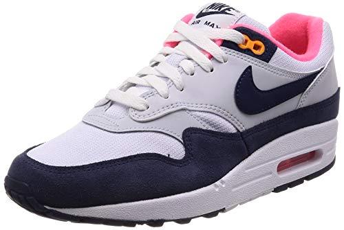 Nike Damen WMNS Air Max 1 Laufschuhe, Mehrfarbig (White/Midnight Navy/Pure Platinum 116), 38.5 EU -