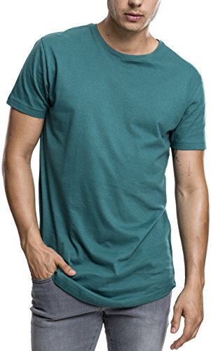S/s Polo-tee (Urban Classics Herren Regular Fit T-Shirt Shaped Long Tee, Grün (Jasper 1149), XX-Large)