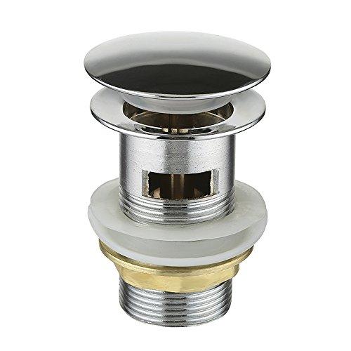 Libraoeu Ablaufgarnitur Pop up Ventil mit push-Druckfunktion für Waschtisch/Waschbecken