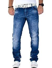 Cipo & Baxx Herren Jeans Mens Pants Freizeit-hose Clubwear Biker Style Top Denim