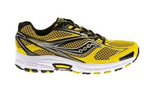 Saucony Grid Cohesion 8 Zapatillas Running niño, Color Gris/Amarillo, Talla 37