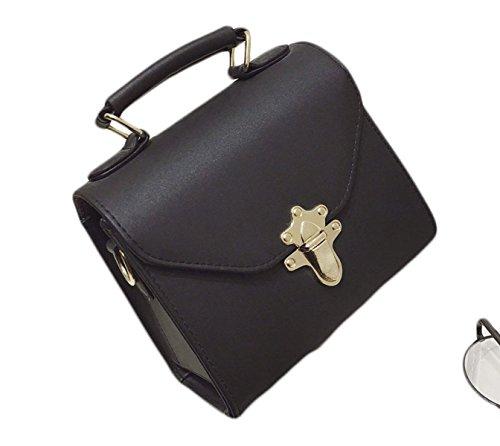 KYFW Womens Art Und Weise Bewegliche Metallkleine Quadratische Tasche E