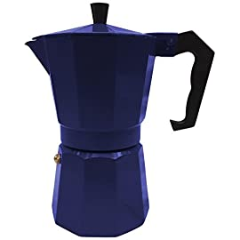 Innova Brands IVKEMN3 Italian Espresso Stove Top Coffee Maker Continental Moka Percolator Pot, Blue-P