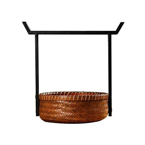 Picknickkörbe Vintage Bambus Picknick Körbe Chinesische Eisen Griff Körbe Tragbare Lunchboxen Einkaufen Lagerung Geschenk Körbe Aufbewahrungsboxen & Truhen Langlebig Picknickkörbe - Korb Vintage Picknick