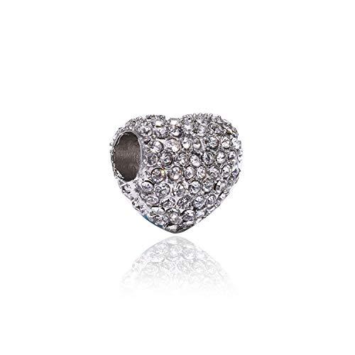 Styliee Schmuck Geschenk, Perle Charme 2Pcs/Lot Ferris Wheel Beads Fit Women Charm Silver Color Original Bracelet & Bangle DIY Jewelry C13 (Lot Disney-charme)