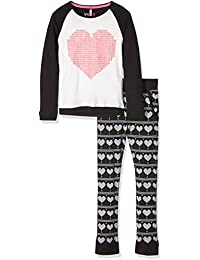 Lina Pink Ef.Wool.Plk.Mz, Ensemble de Pyjama Fille