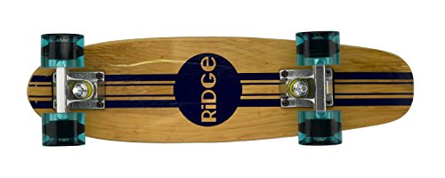 Ridge Retro Skateboard Mini Cruiser, klar blau, 22 Zoll, WPB-22