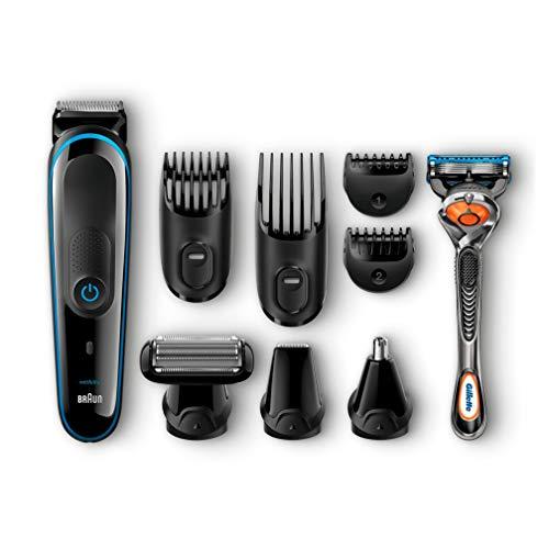 Braun MGK3080 Kit Polyvalent - Tondeuse de Précision 9en1, Stylisation Barbe et Cheveux