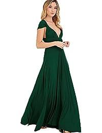 Dunkelgrunes langes kleid
