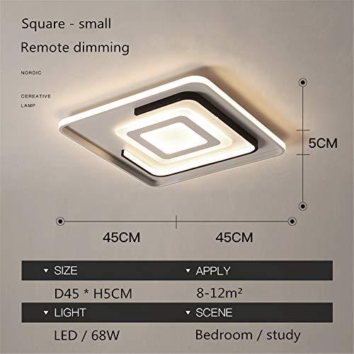 LED-Acryl-Deckenleuchte, Einfache Moderne Deckenleuchte, Wohnzimmerleuchte, Einbauleuchte, Für Wohnzimmer, Schlafzimmer, Flur, Küche, Bad, Bar (Platz,Small) -