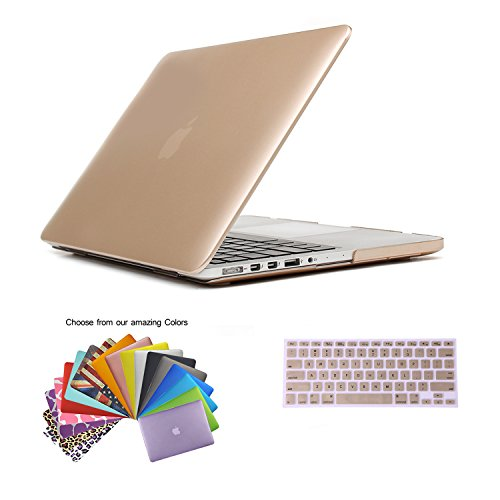 MacBook-Pro-13-Retina-Cubierta-Case-TECOOL-Ultra-Slim-Series-Plstico-Hard-Shell-Funda-con-Tapa-del-Teclado-para-MacBook-Pro-133-Pulgada-con-Retina-Display-Modelo-A1502-and-A1425-Oro
