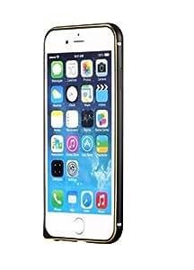ROKAYA,metal bumper case cover for Apple 6 plus,Black/Golden