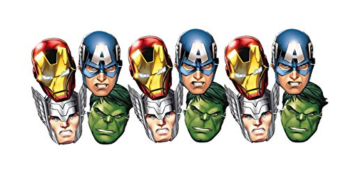 ALMACENESADAN 0554, Pack 12 Avengers Masken, für Partys und Geburtstage