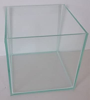 8 Liter Glasaquarium Würfel 20x20x20 cm Glasbecken Nano Aquarium transparent verklebt