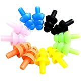 SUPVOX 6 Sets Assorted Color Silicone Swimming Ear plugs and Nose Clip with Box for Kids and Adults