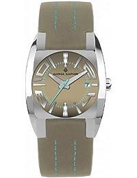 Alpha Saphir 311E - Reloj de caballero de cuarzo, correa de piel color varios colores
