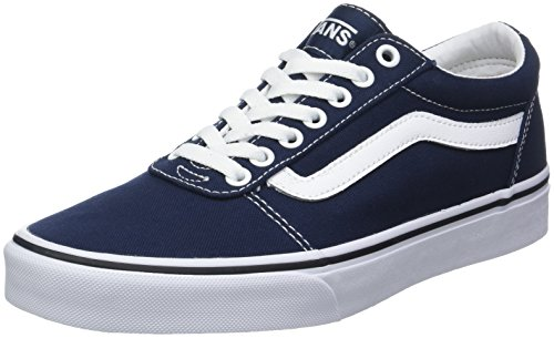 Vans Herren Ward Canvas' Sneakers, Blau Dress Blues/White Jy3, 39 EU - White Vans Slip-on Schuhe Herren