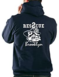 Sweat-shirt à capuche Rescue 2(Brooklyn) with Dog–New York City Fire Department