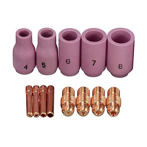 TIG Collet Body Accessoires Consommables Kit Fit WP 9 20 25 TIG Soudage Torche 13pcs