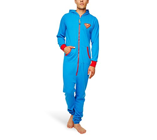 DC ComicsHerren Strampelanzug Blau Blau, - Superman Blue with red trim, ()