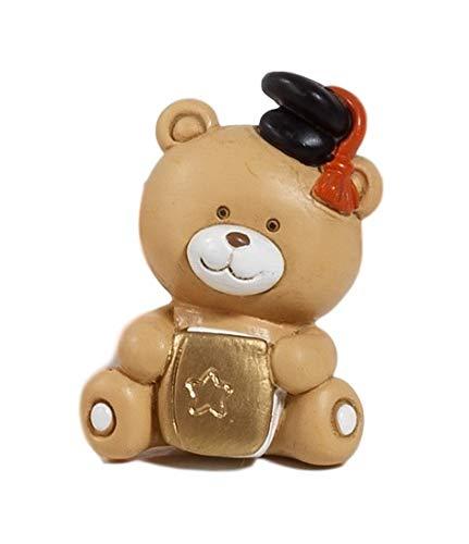 Paben bomboniera laurea, 12 pezzi calamita orsetto resina, 4,5 cm in resina by