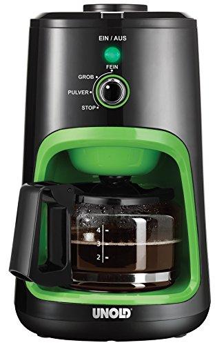 UNOLD 28722 Kaffeeautomat, Schwarz/Grün