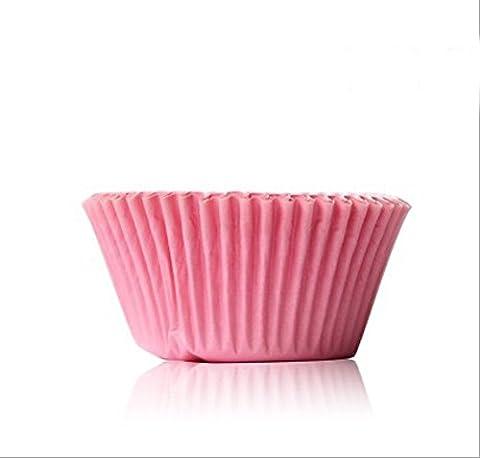 asentechuk® 100Caissettes en papier pour cupcakes Tasse Résistant aux huiles Papier Chocolat Plateau à gâteau moule de cuisson 5 x 3cm