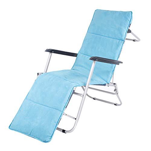 HUYP Fauteuil Pliant Bleu Portatif Extérieur Chaise De Plage De Soleil 184CM Inclinable