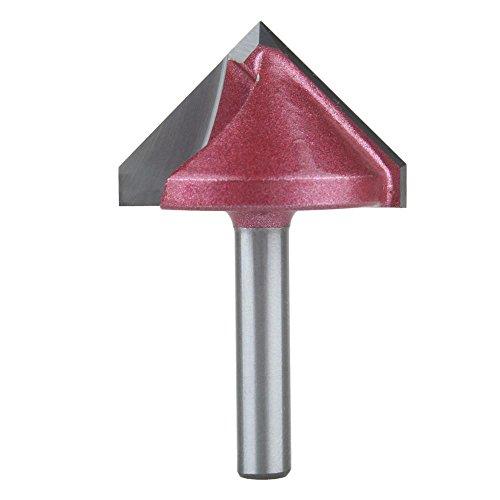 EU_HOZLY 32mmx90 Grad (CEDxDegree) 6mm 3D V Formfräsen Holzschneider Messer, CNC Fräser Bit Graviermaschine Messer Werkzeug