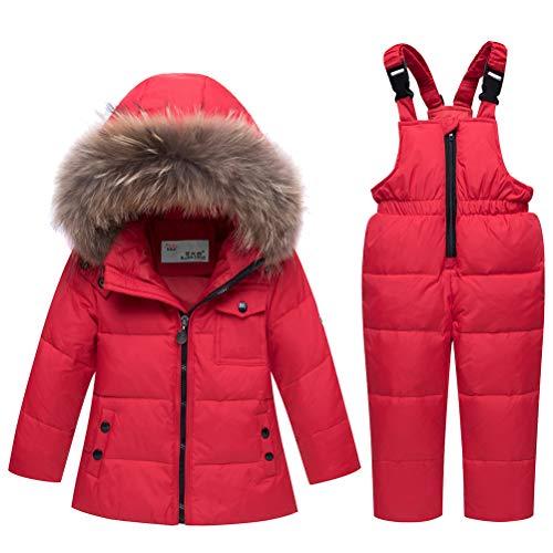 Odziezet Snowsuit da Unisex Bambini Tuta da Sci Piumino Trapuntato e Salopette 2 Pezzi Tutone Inverno 4 13 Anni