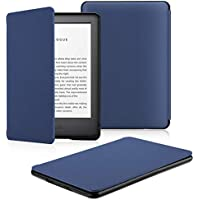 OMOTON Custodia Intelligente per Nuovo Kindle 2019 - Auto Wake/Sleep - Cover Sottile e Leggera in PU Pelle per Nuovo Kindle 2019, Blu