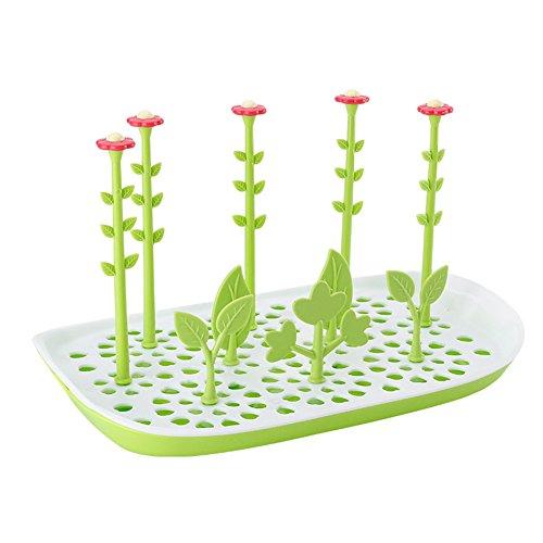 Pro Baby Flasche Trockner Rack Blume Form Fläschchen Trocknen Rack mit 10Halter für Trocknen Flaschen und Zubehör