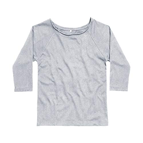 Flash Dance Kostüm - Mantis Damen Flash Dance Sweatshirt (M) (Grau meliert)