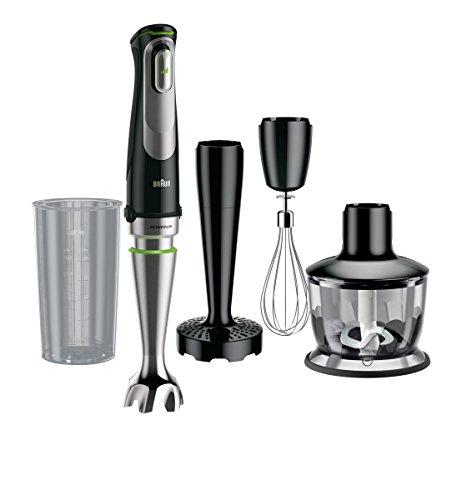 Braun MultiQuick 9 MQ 9037X Stabmixer, 1.000 W, Zerkleinerer (500 ml), Kartoffel-/Gemüsestampfer, EasyClick System Plus, ACTIVEBlade Technologie