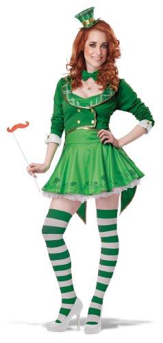 Generique - Saint Patricks Day Kobold-Damenkostüm L (42/44) (Paddy's Day Kostüm)