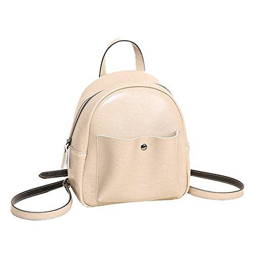 Dissa Q0886 Damen Leder Handtaschen Satchel Tote Taschen Schultertaschen Beige