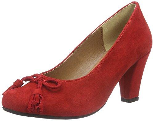 Andrea Conti - Da.-pumps, Scarpe col tacco Donna Rosso (Rot (Rot 021))