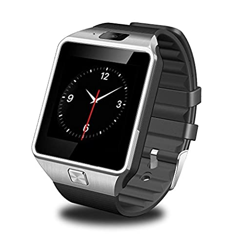 GSTEK Bluetooth Smartwatch Polshorloge Mobiele Telefoon Uur Smart Watch Uur Met Camera Stappenteller Unterstützungs TF/Sim Kaart Voor Android Samsung, HTC, Sony, LG, BlackBerry, Huawei
