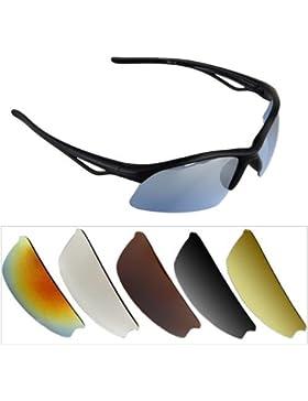 Ecloud Shop Gafas de Sol con Protección UV400 6x Lentes cambiables para Deporte Sunglasses