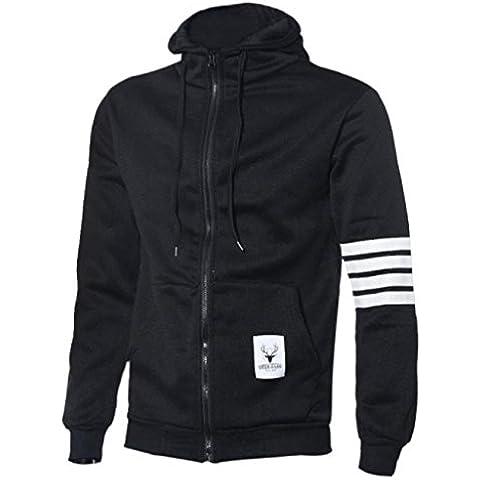 Baonoop_Moda Hombres Deportes Sudadera Casual Zipper Hooded Chaquetas