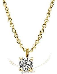 Goldmaid Solitär Collier Jana 585 Gelbgold echter Brillant 0.05 ct. Qualität VS / Top Wesselton Ankerkette