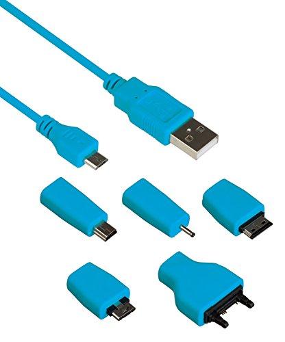 Kit - Cavo di alimentazione/trasferimento dati universale, con 5 diversi connettori