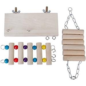 Set mit 3 Stück Hamster Maus Leiter Schaukel Spielzeug-Set
