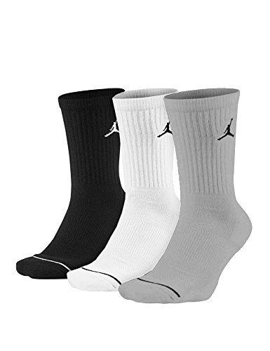 super popular b0255 63f42 Nike U J Everyday Max Crew 3PR Chaussettes Mixte Adulte, Black White Wolf  Grey