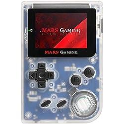 """MarsGaming MRB - Console Retro Portable (151 Jeux Préinstalles, 2"""" LCD, microSD, à Mulateur GBA Principal, NES secondaire, Snes et GB), Blanc"""