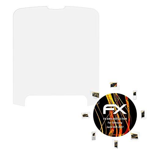 atFolix Panzerfolie kompatibel mit Samsung Jack SGH-i637 Schutzfolie, entspiegelnde und stoßdämpfende FX Folie (3X) -