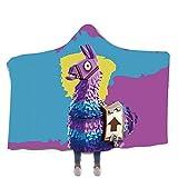 NSSZ Kinder/Erwachsene mit Kapuze Decke Tragbare mit Kapuze Decke Spieldecke Kind/Erwachsene Foto Decke, Kapuze Wolldecke