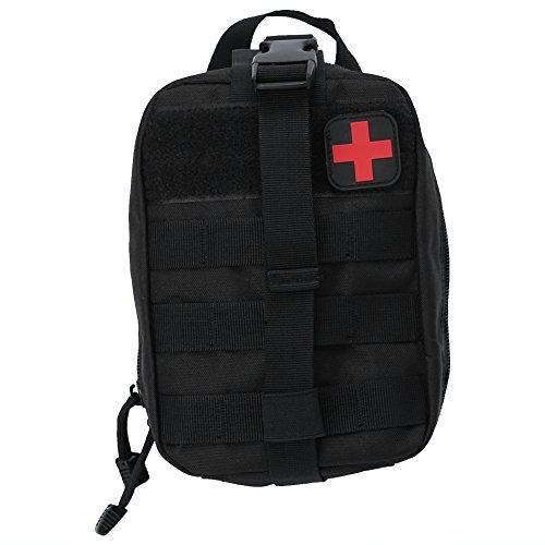 Alomejor Erste Hilfe Tasche EMT Medical Erste Hilfe Utility Pouch Leer Medizinische Tasche für Notfall Reisen Camping Wandern Radfahren Outdoor(Schwatz)