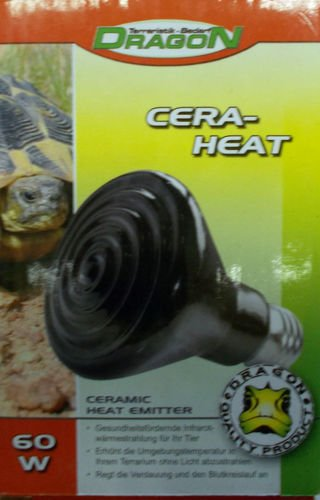 Dragon–Cera de Heat 60W–Reptiles térmica Foco Reflector de infrarrojos