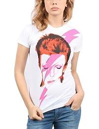 David Bowie Montre Femme That Man T-shirt en blanc